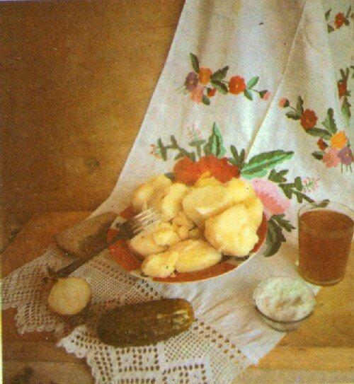 Картошка с огручиками