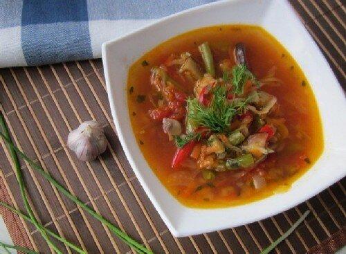 Фасолевый суп с колбасой