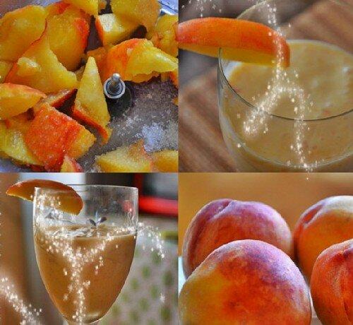 Персиковый молочный коктейль