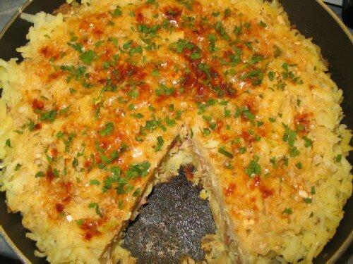 Запеканка из картофеля и квашеной капусты
