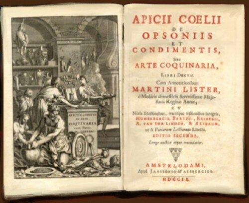 Первая письменная кулинарная книга опубликована в 62 году нашей эры.