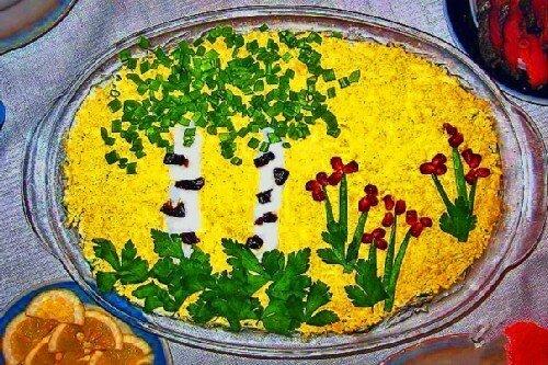 салат березка с рецепт с фото