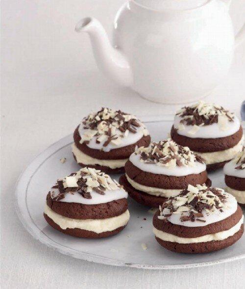 Бисквитное печенье с кремом