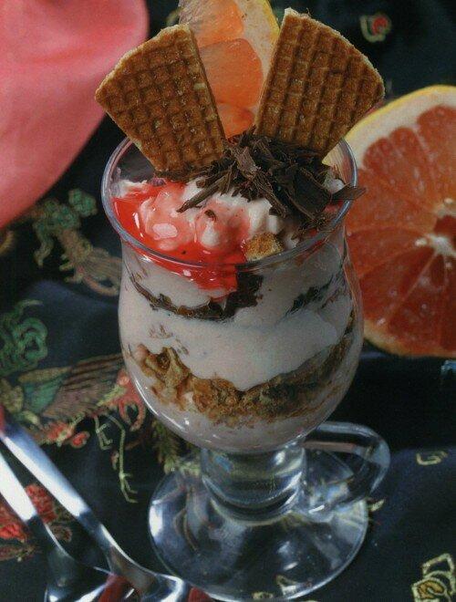 Десерт с грейпфрутом и шоколадом