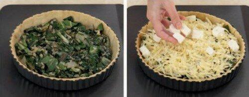 Пирог с сыром и ботвой