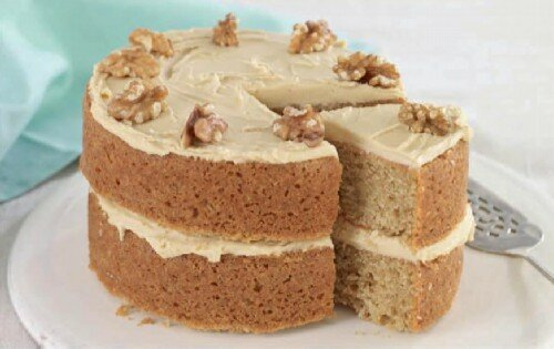Кофейный торт с грецкими орехами