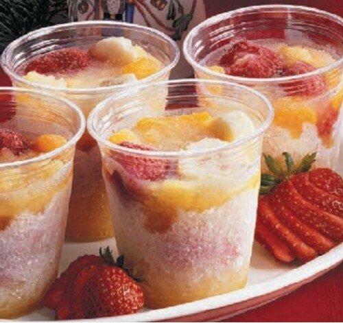Охлажденные фруктовые салаты