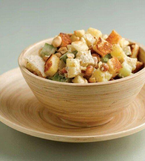 Салат из картофеля и редиса