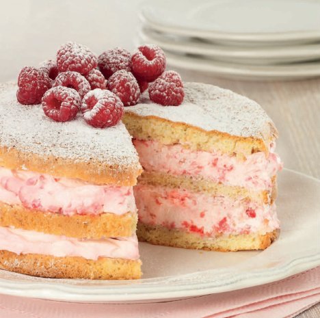 Торт малина со сливками