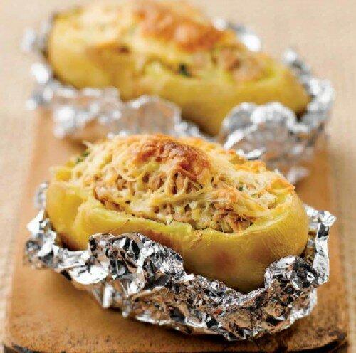 Картофель фаршированный тунцом